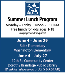 Summer Lunch Program Advertisement