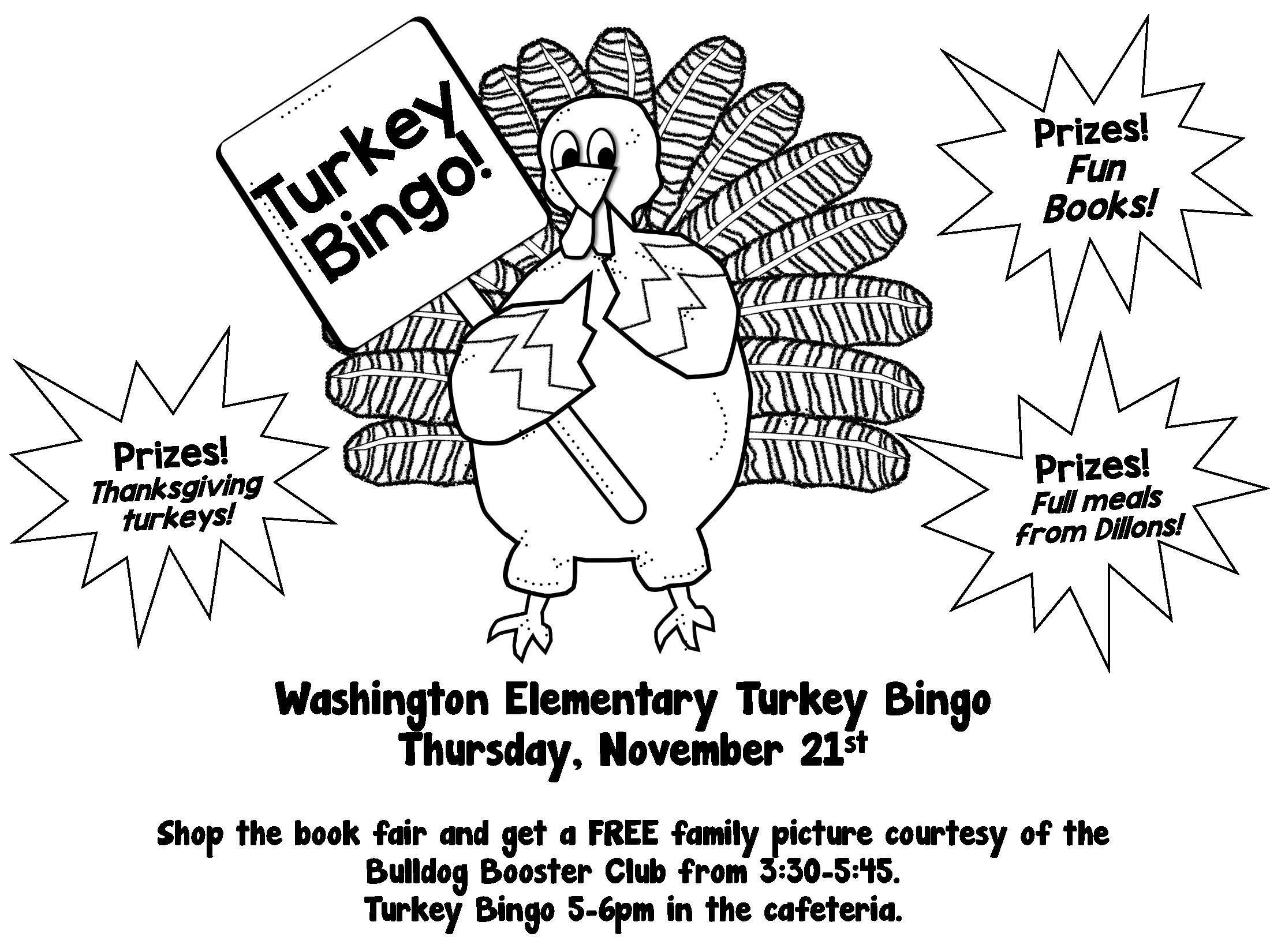 Turkey Bingo Flyer